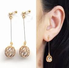 non pierced earrings best of gold hoop earrings non pierced jewellry s website