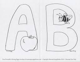 free printable coloring pages letters a through d