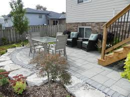 backyard seating area tree amigos landscaping inc design