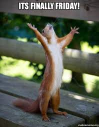 Finally Friday Meme - its finally friday happy squirrel make a meme