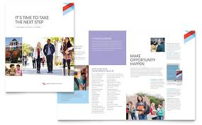 community college brochure template word u0026 publisher