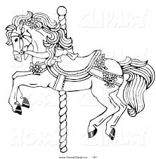 pleasurable carousel animals coloring pages 3 17 best images about