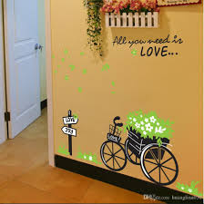 wholesale diy creative bike pvc removable room bedroom vinyl decal