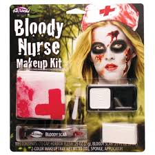 horror bloody nurse makeup halloween fancy dress fw9422bn