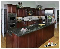Kitchens With Green Cabinets by Cordovan Cherry Wood Cabinets Kitchen Magic Inc This Is The