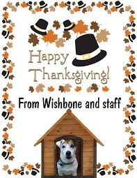 happy thanksgiving from wishbone and staff jim salmon