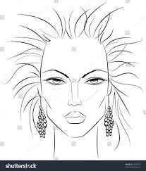 sketch female face which can be stock vector 24657937 shutterstock