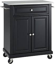 black kitchen island with stainless steel top crosley furniture cuisine kitchen island with