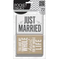 Pocket Pages Me U0026 My Big Ideas Pocket Pages Themed Cards Wedding Joann