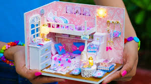 Doll House Bunk Beds Diy Miniature Doll House Bunk Bed Bedroom