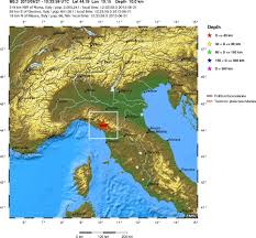 Italy Earthquake Map by Magnitude 5 3 Earthquake In Italy On 21 June 2013 Europe Geology