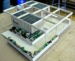 Eco Home Decor The House Of Rising Sun Model Shows Solar Panels And Sustainable