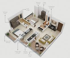 Plan Floor Design by 2 Bedroom Apartment House Plans
