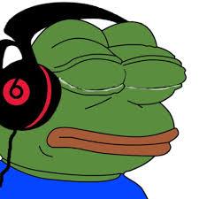 Meme Pepe - create meme the frog pepe listens to music the frog pepe listens