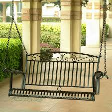 Modern Patio Swing Shop International Caravan Tropico Antique Black Iron Porch Swing
