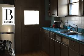 kitchen apartment therapy before after drab dark kitchen turned mint green dream