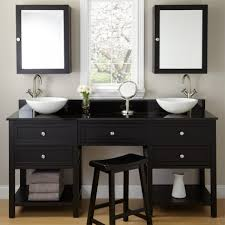 Black Bathroom Vanity With White Marble Top by Voluptuous French Single Bath Vanity Design Ideas Presenting