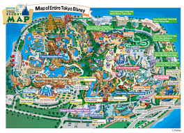 November Tokyo by Insights And Sounds Combined Tokyo Disney Land And Sea Map
