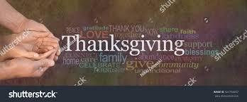 thanksgiving word cloud website banner stock photo