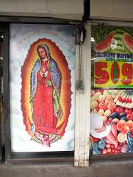 virgen de guadalupe mural altar street art south central