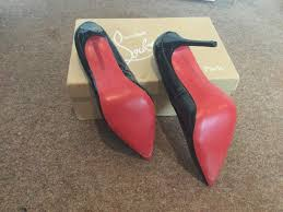 black 4inch red bottom louboutin shoes in bromley london gumtree