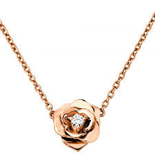 rose flower necklace images Beautiful rose gold rose necklace flower necklace things i 39 d jpg