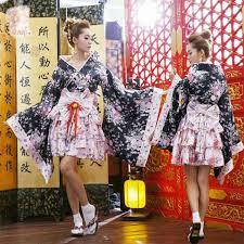 Sakura Halloween Costume Sakura Kimono Cosplay Anime Maid Costume Japanese Kimono Dress