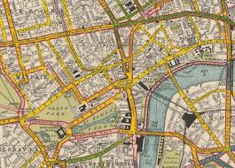 Surface Map Road Surface Map Of London 1922 Yellow Stands For A Wooden Road
