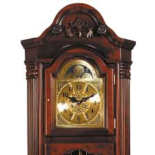 Traditional Style Home Clocks Traditional Style Grandfather Clocks In Dark Walnut For