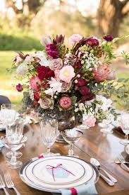 Flower Table Pretty Palette Color Of The Year Marsala One Charming Day