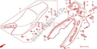 siege honda siege moulure de siege cb600f3 4 5 6 chassis cb600f6 2006 hornet 600