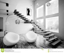 black white interior black white interior 3d render stock illustration illustration of