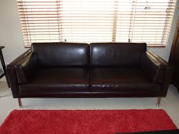 Reddish Brown Leather Sofa Simple Living Room With Ikea Brown Leather And