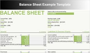 Small Business Balance Sheet Template Balance Sheet Template Free Excel Word Documents