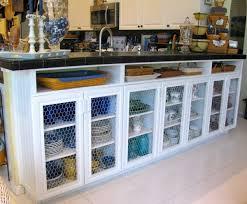 Chicken Wire Cabinet Doors Breakfast Bar With Storage Salvaged Kitchen Cabinets With Chicken
