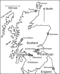 for kids download blank map of scotland 82 in line drawings with