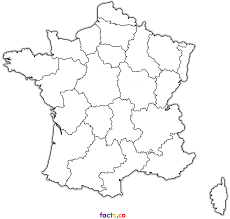 free coloring blank map of france for kids