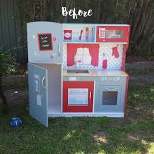 kmart kitchen furniture before and after a kmart wooden play kitchen hack my baby