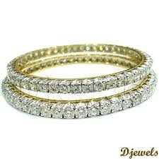 diamond studded diamond studded gold bangles 14 k gold diamond bangles jewellery