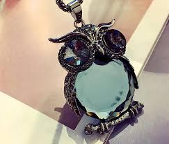 crystal owl necklace images Elegant blue crystal owl necklace skyfashionvalley jpg
