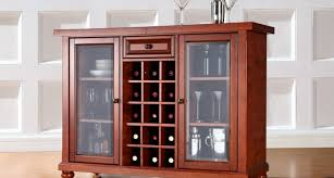 Mini Bar Cabinet Bar Bar Cabinet With Frosted Glass Doors And Lattice Wine Rack