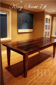 how to finish a table top with polyurethane reclaimed wood harvest table with epoxy polyurethane finish ontario