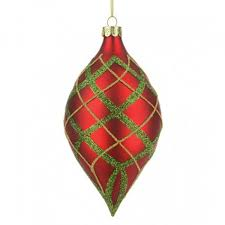 150mm tashika glass baubles green and gold