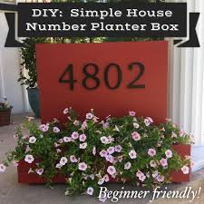 diy simple house number planter box beginner friendly kylie m