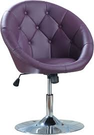 Small Leather Desk Chair Furniture Purple Leather Desk Chair With Curvy Backrest And White