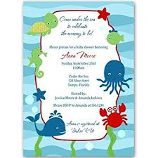 the sea baby shower the sea baby shower invitations unisex