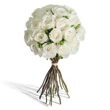 White Rose Bouquet Wedding Myfleur Lu