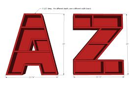ana white letter z shelf diy projects
