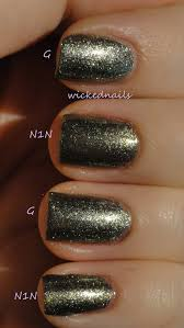 chanel graphite and opi number one nemesis compared wickednails