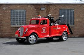 Old Ford Trucks Pictures - 1936 ford truck model 51 wrecker red classic old retro vintage usa